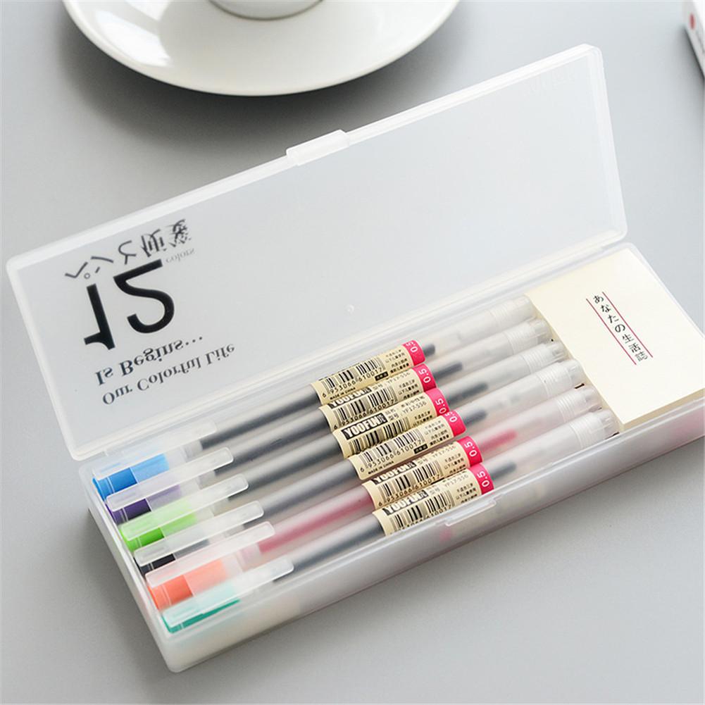 12 Pcs/box Colored Gel Pen Memo Pads Set 0.5mm Colour Ink Maker Pens School Office Writing Stationery