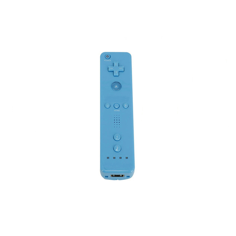 Remote Controller Game Handle for Wii  (Without Silicone Sleeve and Hand Rope) blue
