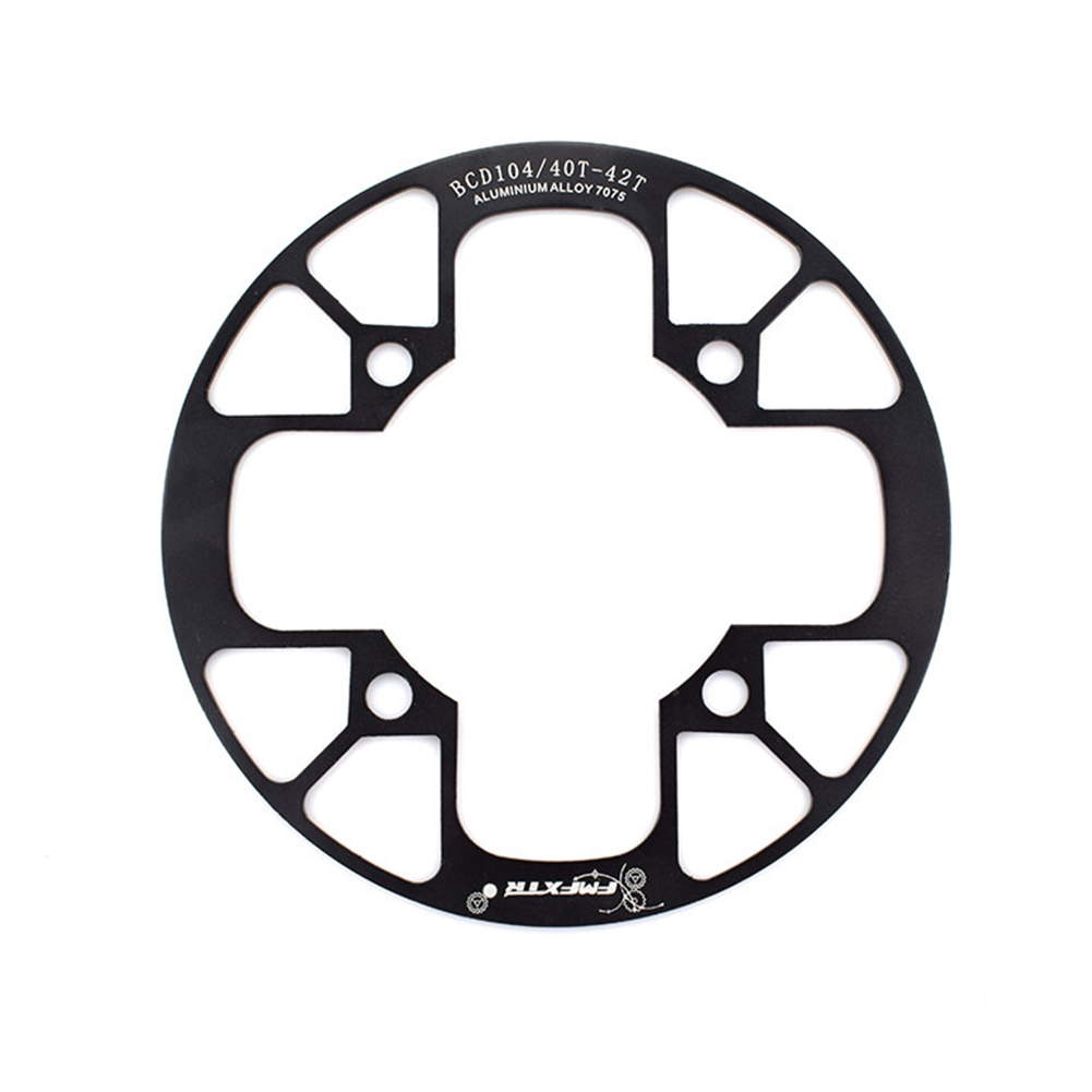 104bcd MTB Bicycle Chain Wheel Protection Cover Bicycle Protection Plate Guard Bike Crankset Full Protection Plate 40-42T black