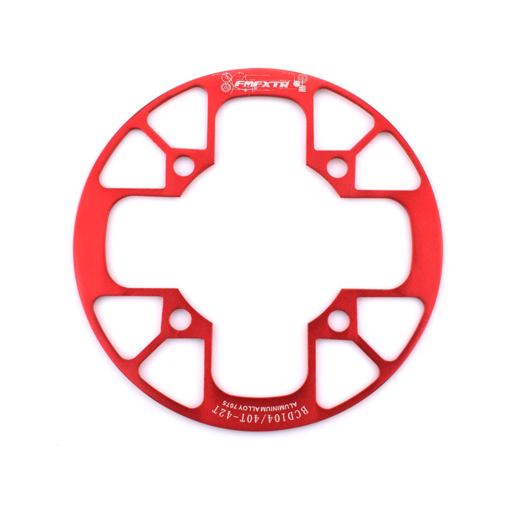 104bcd MTB Bicycle Chain Wheel Protection Cover Bicycle Protection Plate Guard Bike Crankset Full Protection Plate 40-42T red