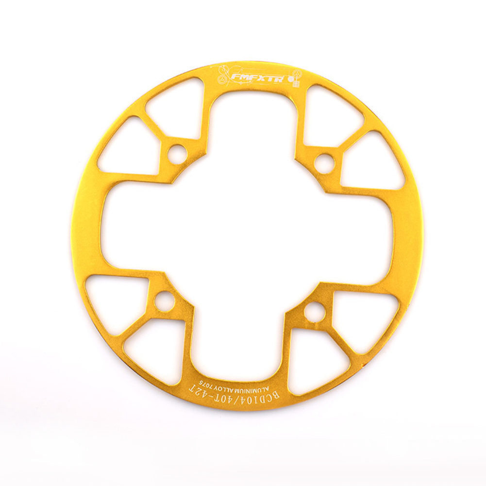 104bcd MTB Bicycle Chain Wheel Protection Cover Bicycle Protection Plate Guard Bike Crankset Full Protection Plate 40-42T gold