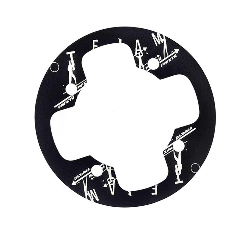 104bcd MTB Bicycle Chain Wheel Protection Cover Bicycle Protection Plate Guard Bike Crankset Full Protection Plate 02 aluminum alloy plate 32T black