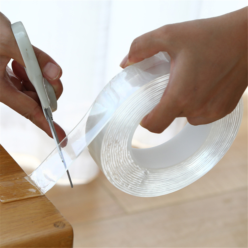 Double-sided  Adhesive Nano-suction Film Non-marking Magic Tape Waterproof High-temperature Thickness 1mm*width 3cm*length 2m