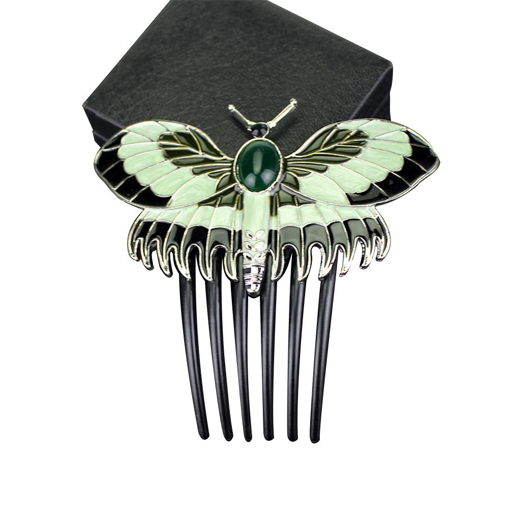 [EU Direct] Eyourlife Classic Titanic Heroine Rose Dress Nice Butterfly Comb  Hairpin AN586
