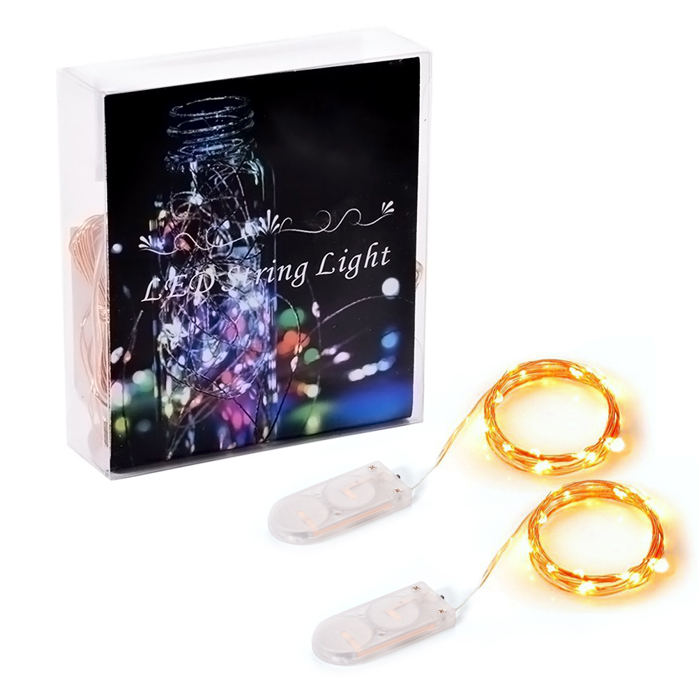 [EU Direct] Battery String Lights,Silver Wire Battery Operated,Indoor Led String Light for Decorative Christmas, Wedding, Parties(6.5ft,20LEDs,Warm White,CR2032 Battery Box)
