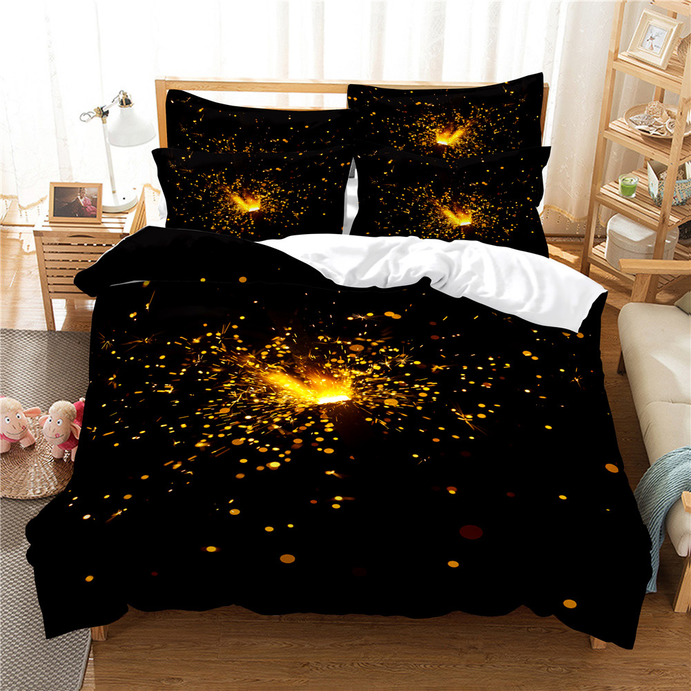 2Pcs/3Pcs Quilt Cover +Pillowcase 3D Digital Printing Dream Series Bedding Set King