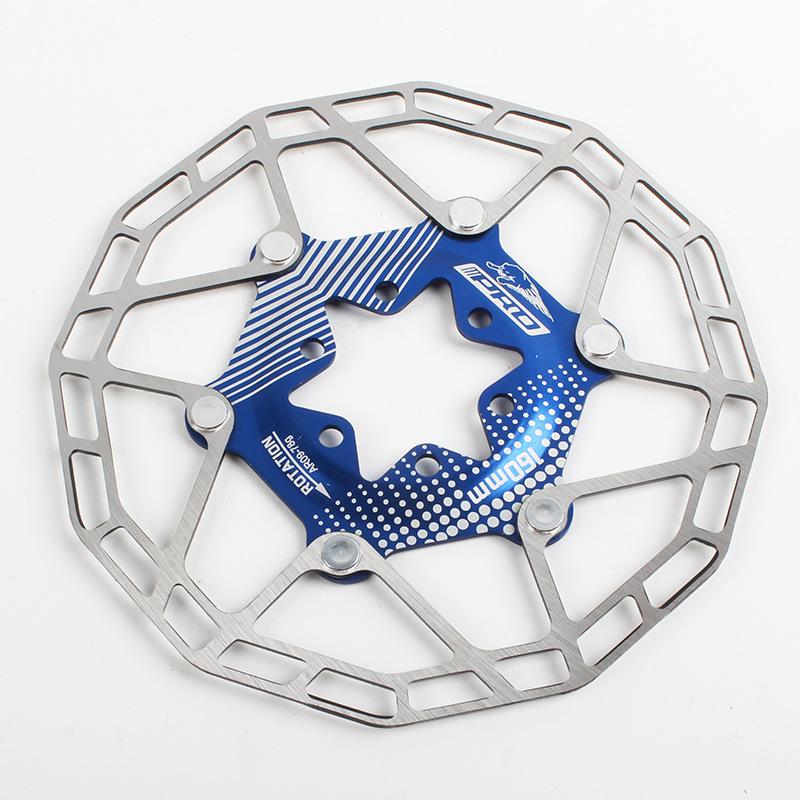 Bike Disc Brake Rotors Ultralight Floating Disc Pads 160mm 80g Bicycle Disc Brake Rotors Parts Blue 160MM boxed