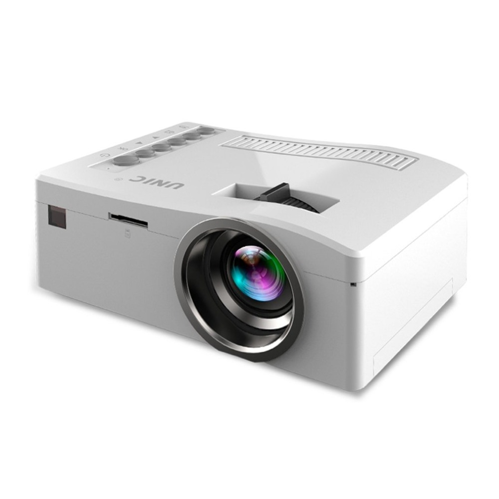 HD 1080P Home Mini Projector White US Plug
