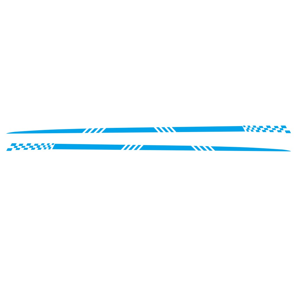 2pcs Universal Car  Decals Body Side Stripe Hood Sticker For All Car Vinyl Bumper Decals blue