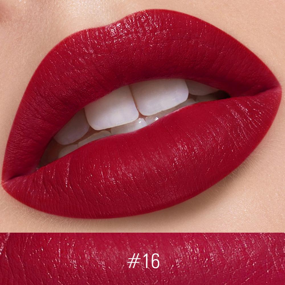 Silky Matte Lipstick Makeup Waterproof Nude Velvet Lip Stick Smooth High Pigmented Texture Cosmetic 16