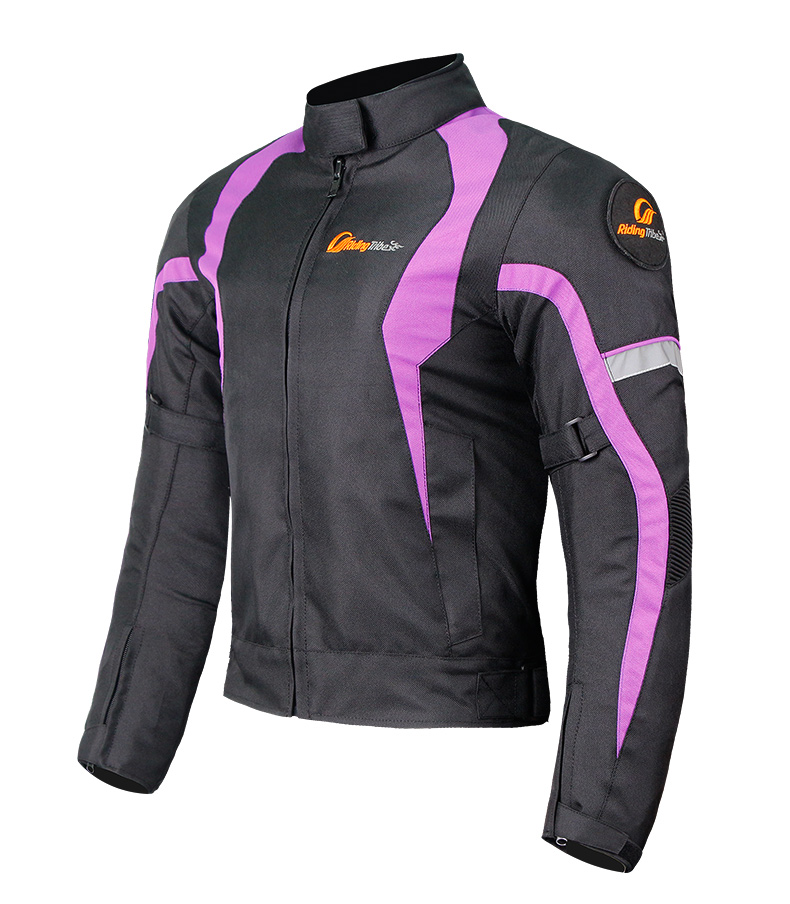 Women Motorcycle Jacket Keep Warm Winter Touring Motorbike Clothing Protective Tops purple_XXL