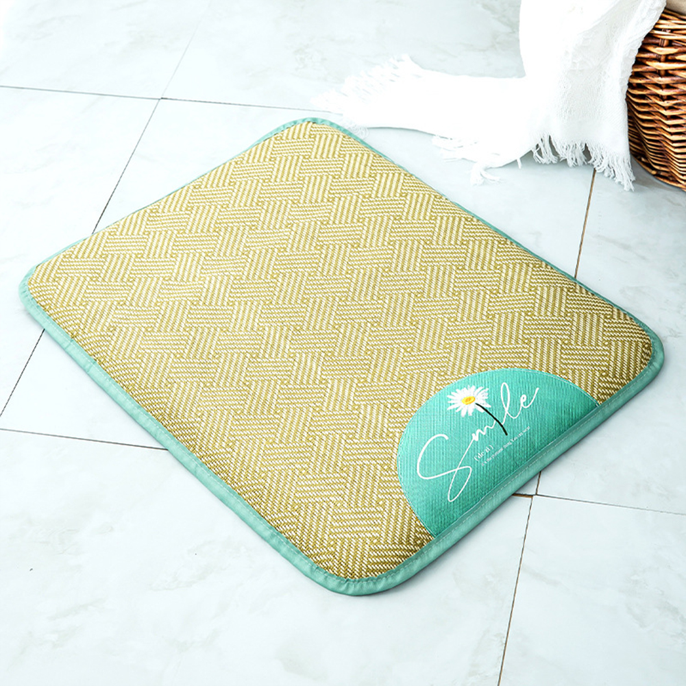 Rattan  Pet  Mat Summer Sleeping Cooling Pad For Teddy Cat Removable Washable Sleeping Mat Fresh daisy_S (suitable for weight within 10 kg)