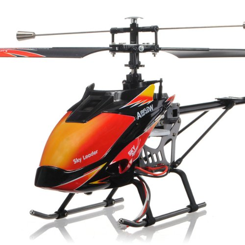 [US Direct] Wltoys V913 4 Channel Single Blade 2.4GHz LCD Remote Control Helicopter Red RTF