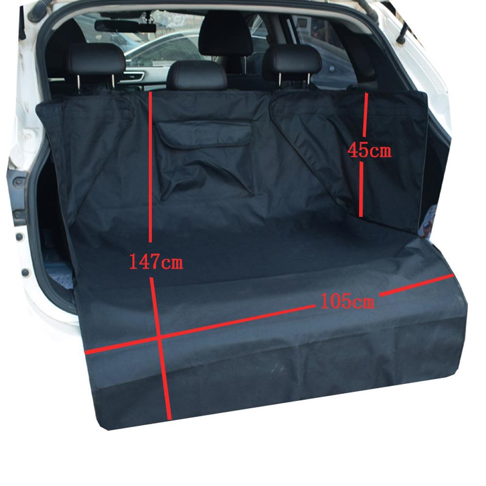 Thicken Waterproof Bite Resistance Oxford Cloth Trunk Pet Mat Protection Pet Mat Pads black_147 * 105 * 45cm