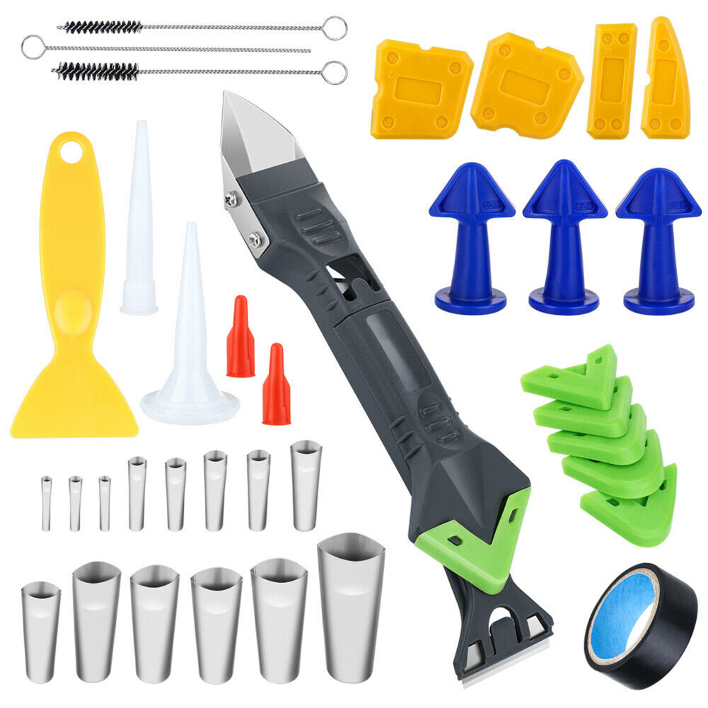 36pcs/set Caulking Finisher Nozzle Applicator Sealant To Tidy The Kitchen Push Rod Tools 36pcs
