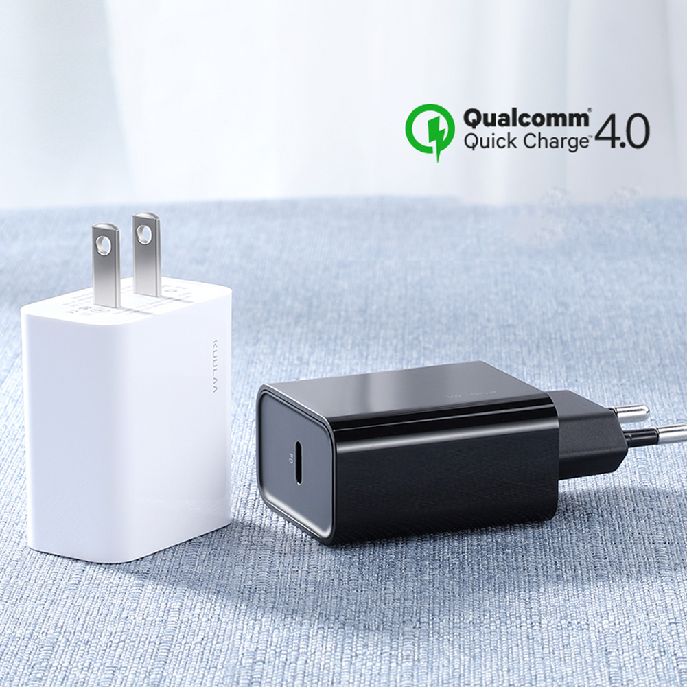 Charger USB-C Type-C 18W PD 3.0 Fast Charge QC 4.0 Plug Quick Charging for Mobile Phone white