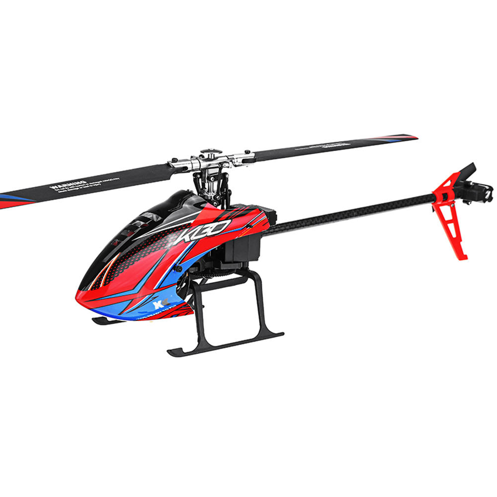 XK K130 2.4G 6CH Brushless 3D6G System Flybarless RC Helicopter BNF Compatible with FUTABA S-FHSS  Without remote control 3 battery