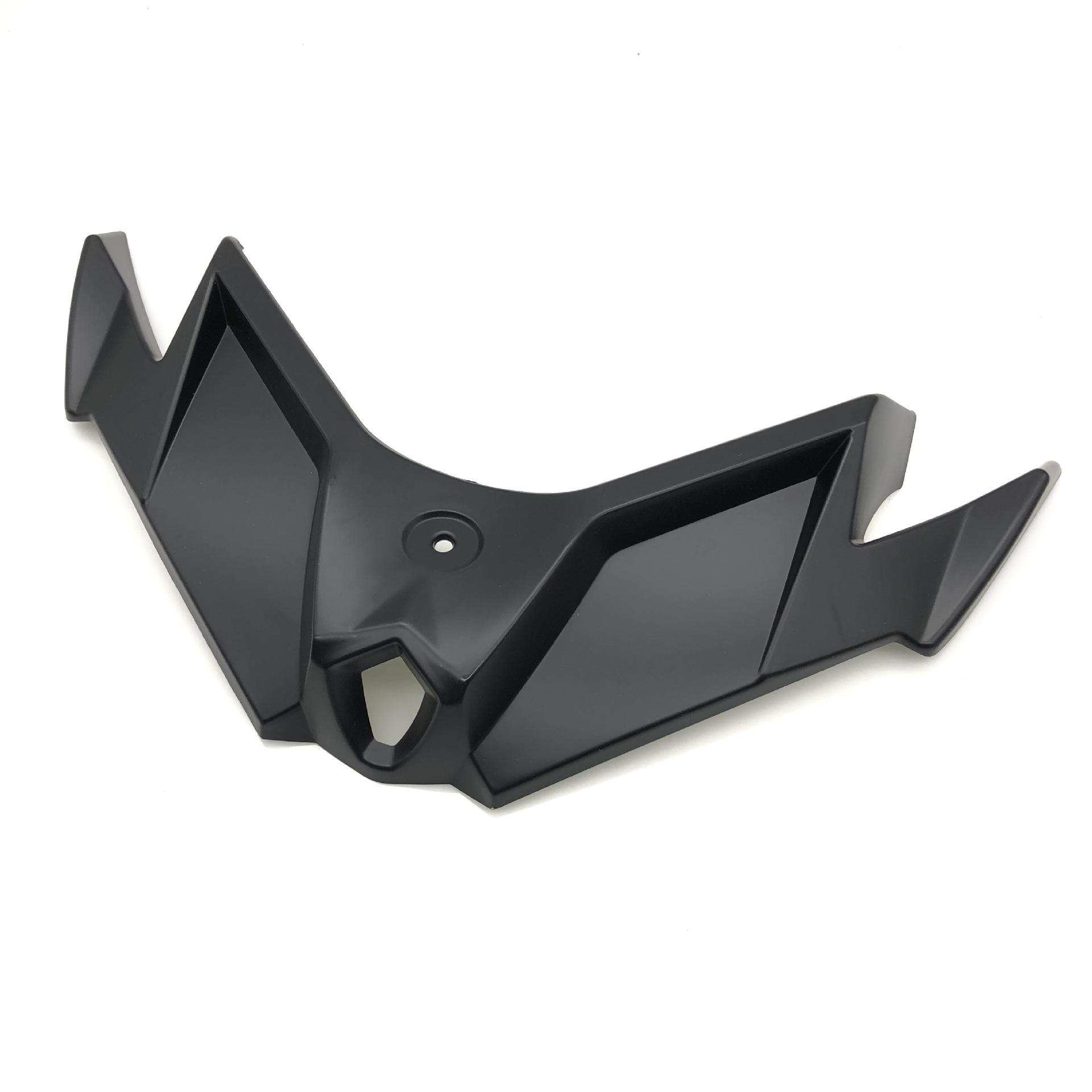 Motorcycle Fairing Aerodynamic Winglets Front  Cover Carbon Fiber Style Wind Wing Decoration For Kawasaki Ninja250/300 black