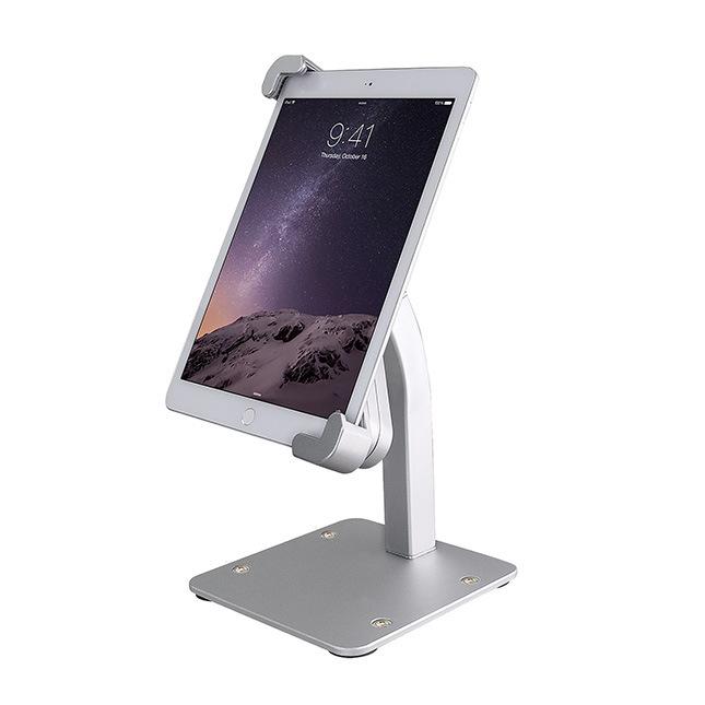Aluminum Alloy Desk Tablet Stand Stable Cellphone Display Base Adjustable Bracket Holder Compatible for iPad silver