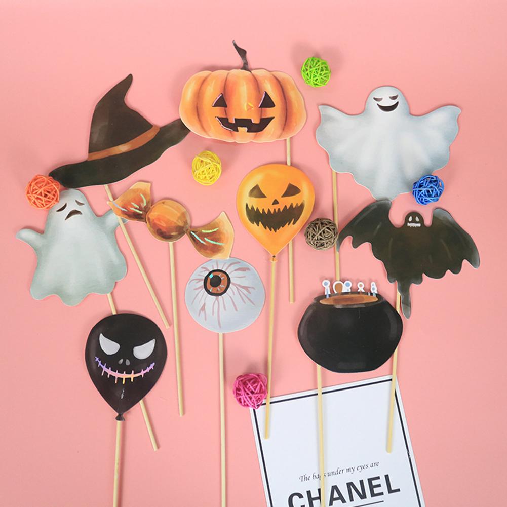 Paper Pumpkin/Spider Series Photo Props Set Halloween Decoration Pumpkin