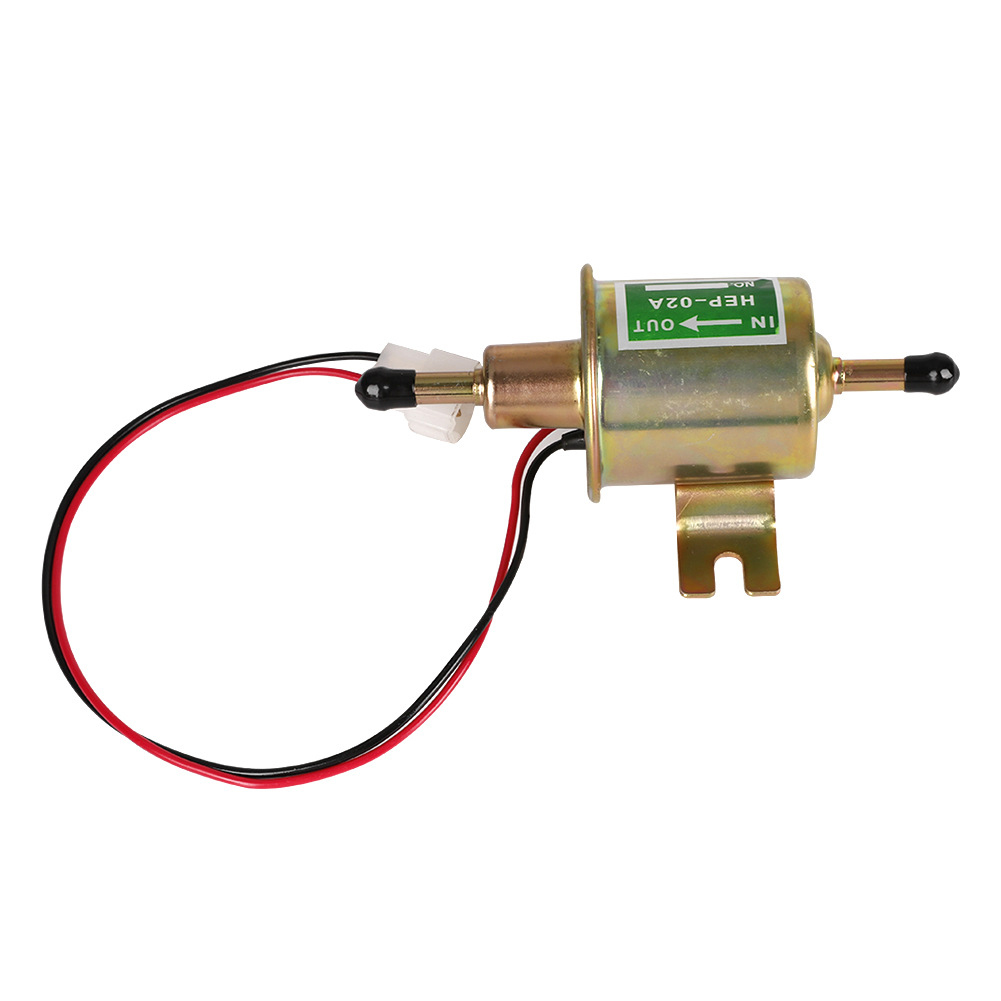 12-24V HEP-02A Universal Electronic Fuel Pump for Motorcycle Golden Silver