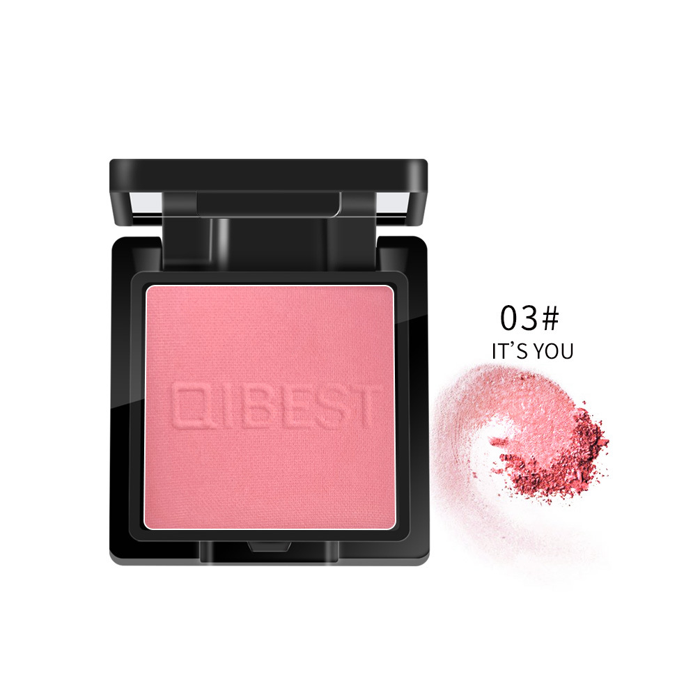 Face Blusher Powder Blush Professional Cheek Rouge Natural Peach Cosmetic C03#