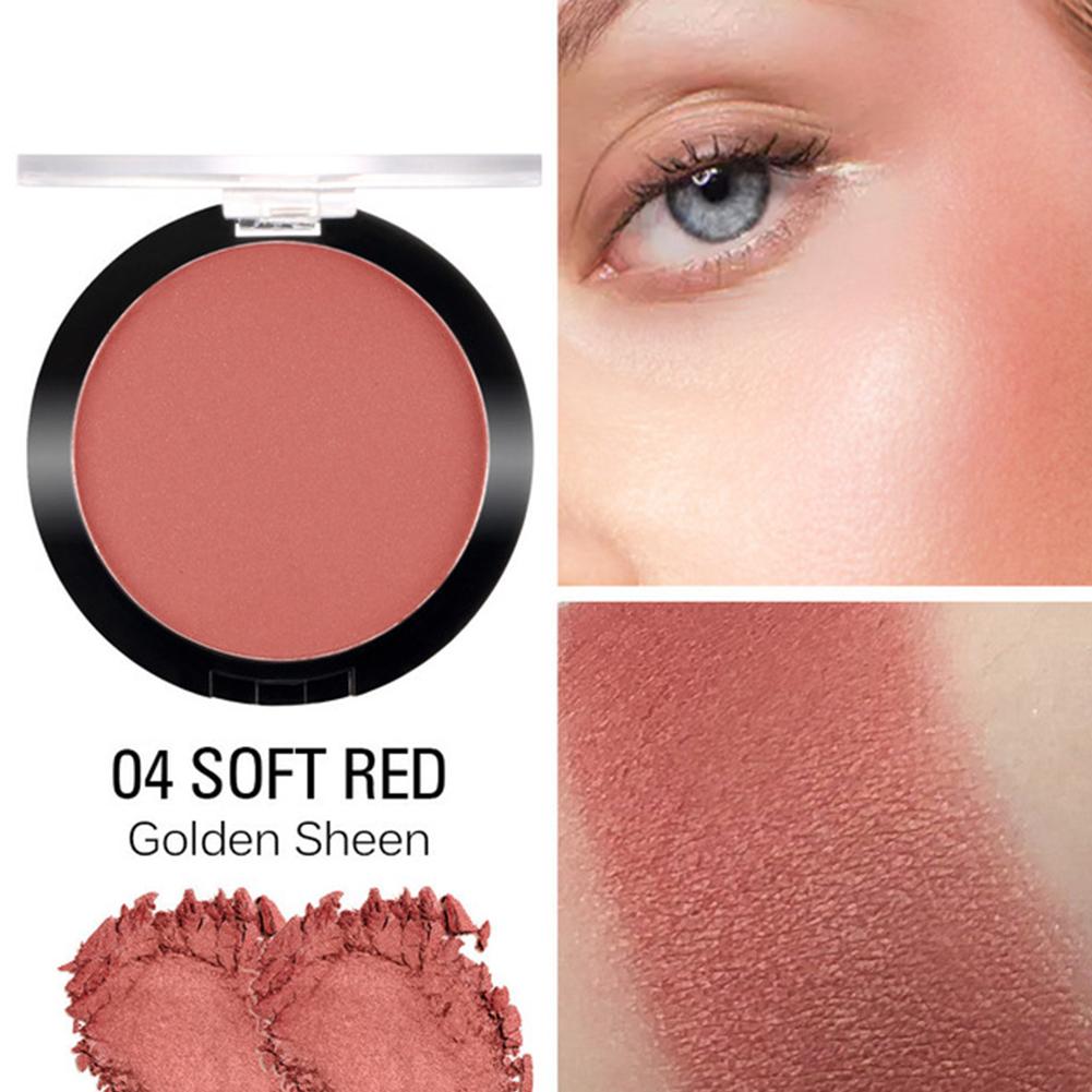 Face Blusher Powder Matte Blush Professional Cheek Rouge Natural Peach Cosmetic 04