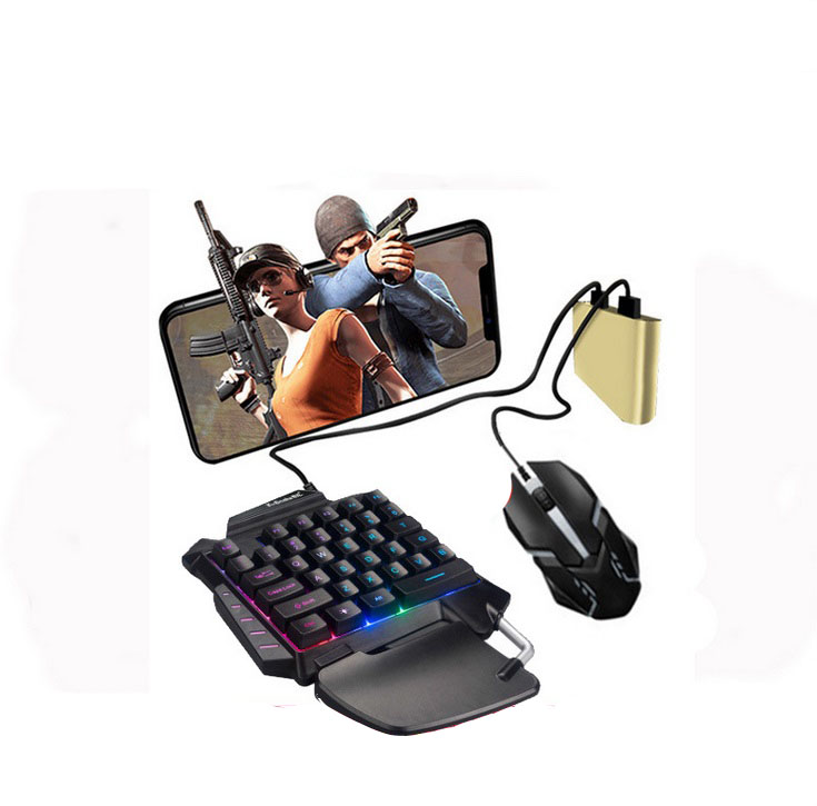 PUBG Mobile Phone Game Controller Mouse Keyboard Battledock Converter  Adapter + mouse + keyboard