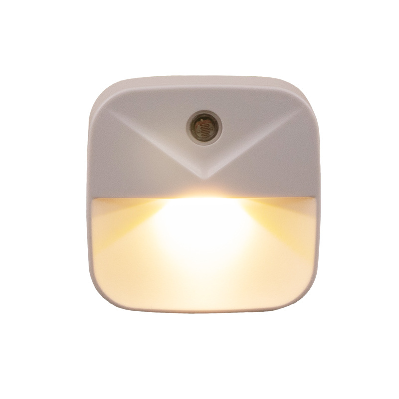 0.4W LED Intelligent Light Control Energy Saving Induction Lamp Night Light Plug Style warm light_US regulations (flat plug)