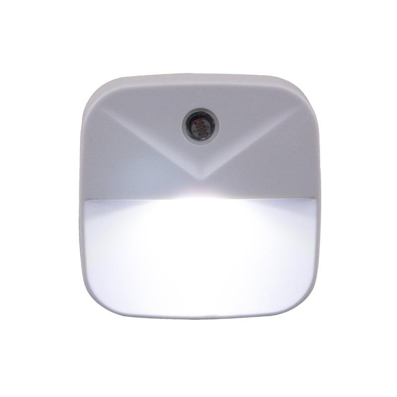 0.4W LED Intelligent Light Control Energy Saving Induction Lamp Night Light Plug Style White light_US regulations (flat plug)