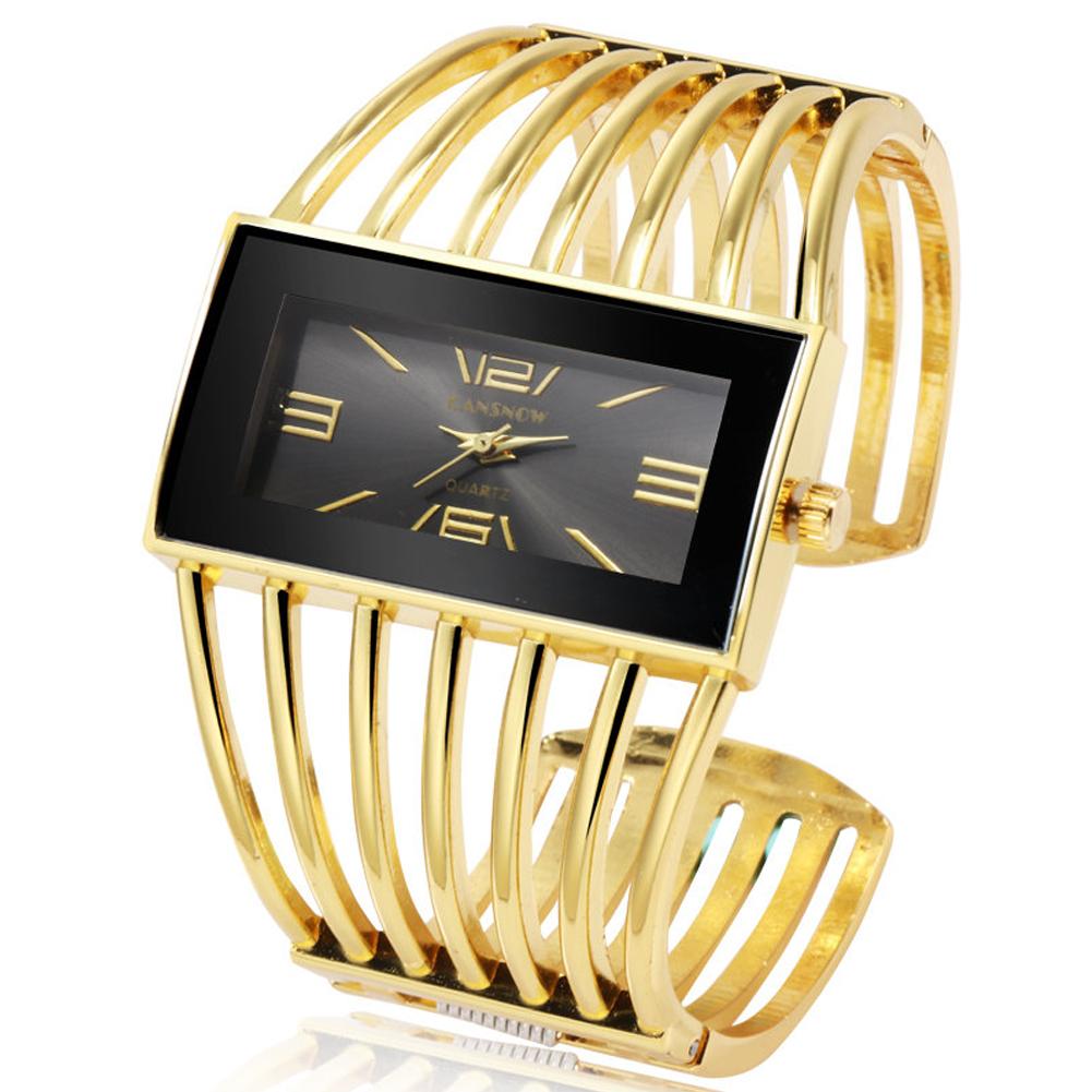Women Creative Waterproof Alloy Quartz Rectangular Dial Fashion Bracelet Watch Wristwatch 3#