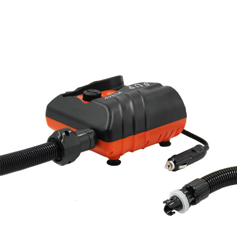 12v Air Inflator 16 Psi Mini Electric Air PumpInflatable Pump For Outdoor Paddle Board Pump Car Air pump (black orange)