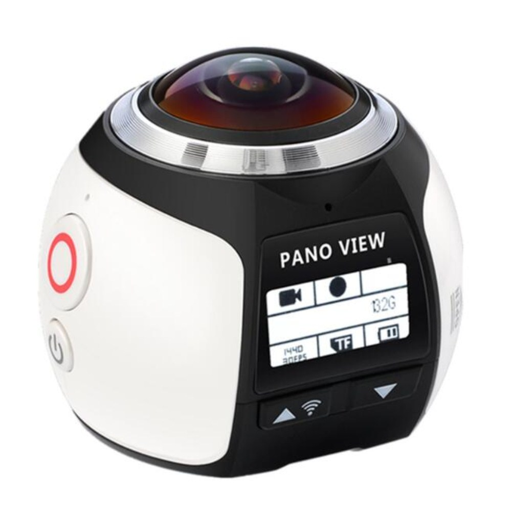 360 Angle Panoram Sport Camera DV VR Video Camera white