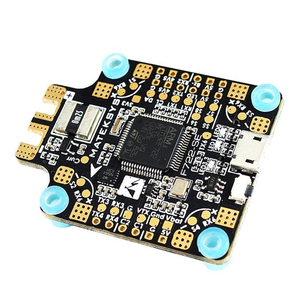 Matek System F722-SE F7 Dual Gryo Flight Controller w/ OSD BEC Current Sensor Black Box for RC Drone as shown