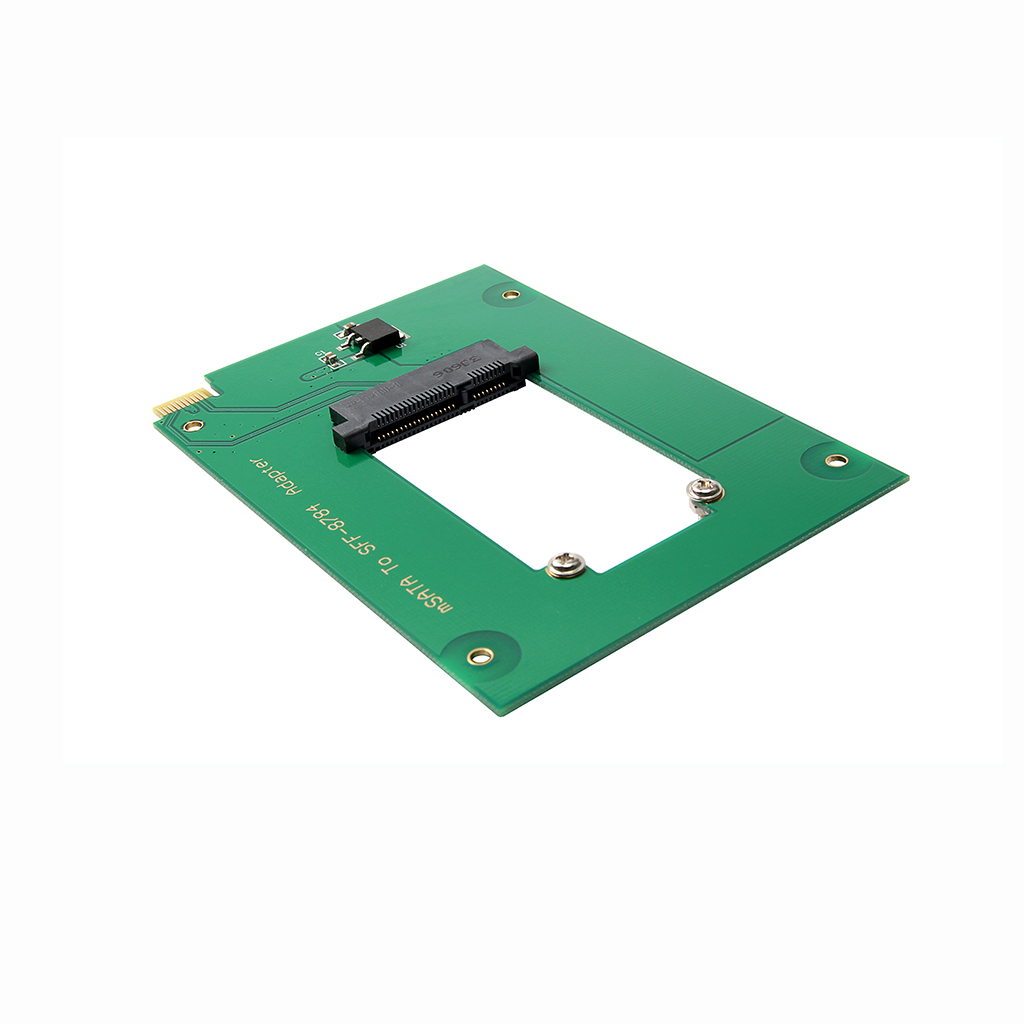 WD5000MPCK SFF-8784 SATA Express to mSATA Adapter Cards Converter for UltraSlim Hard Disk SSD WD5000M21K green