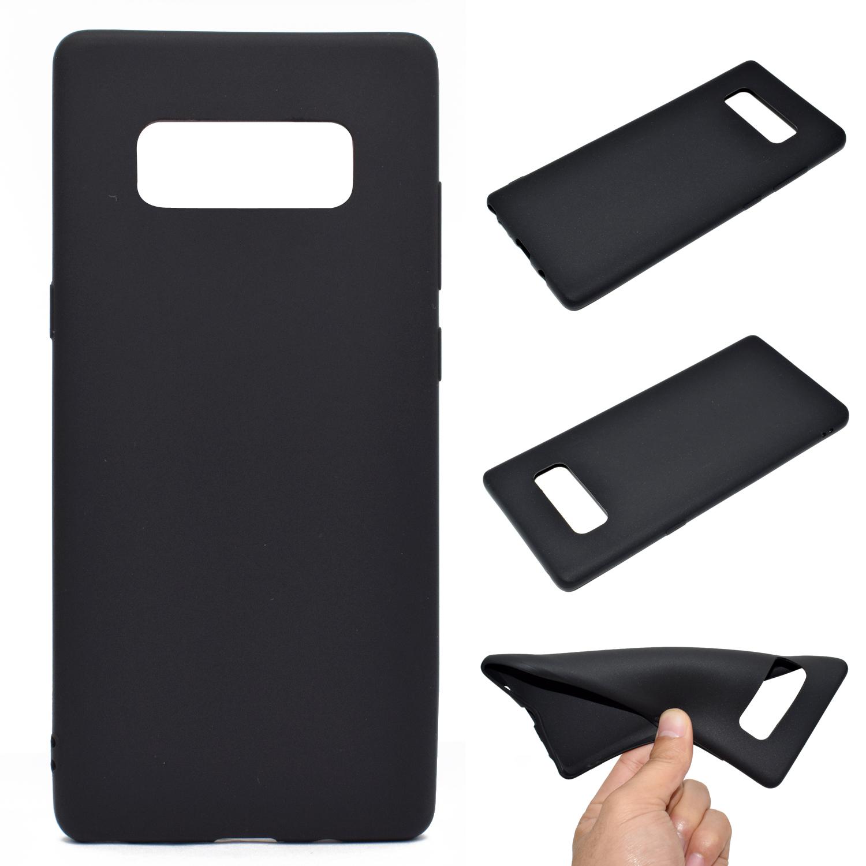 for Samsung NOTE 8 Cute Candy Color Matte TPU Anti-scratch Non-slip Protective Cover Back Case black