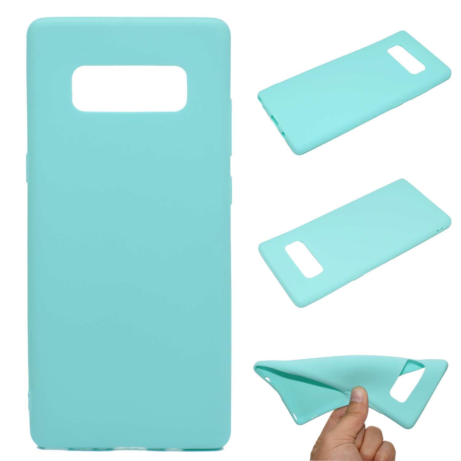 for Samsung NOTE 8 Cute Candy Color Matte TPU Anti-scratch Non-slip Protective Cover Back Case Light blue