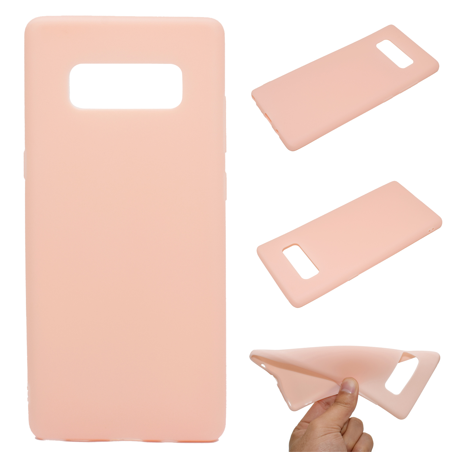 for Samsung NOTE 8 Cute Candy Color Matte TPU Anti-scratch Non-slip Protective Cover Back Case Light pink