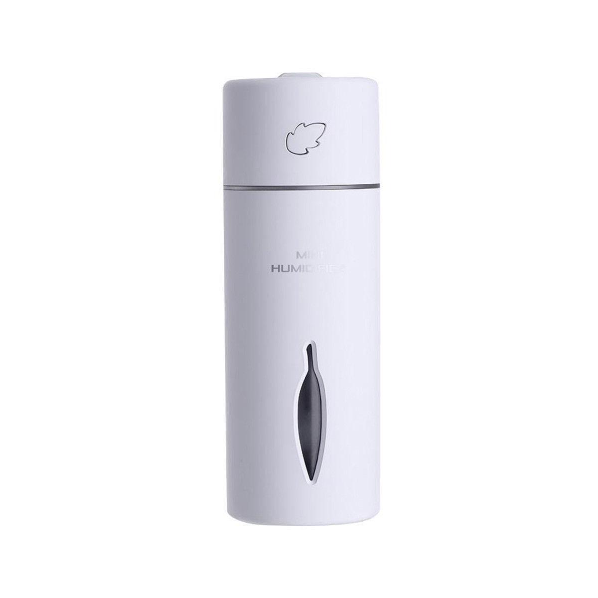 LED Mini Portable Car Humidifier Air Purifier Freshener Essential Oil Diffuser white