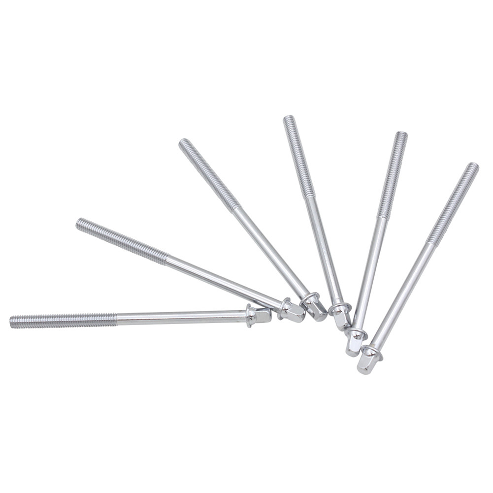 6 Pcs Standard Drum Screw Percussion Instruments Parts Accessories Silver