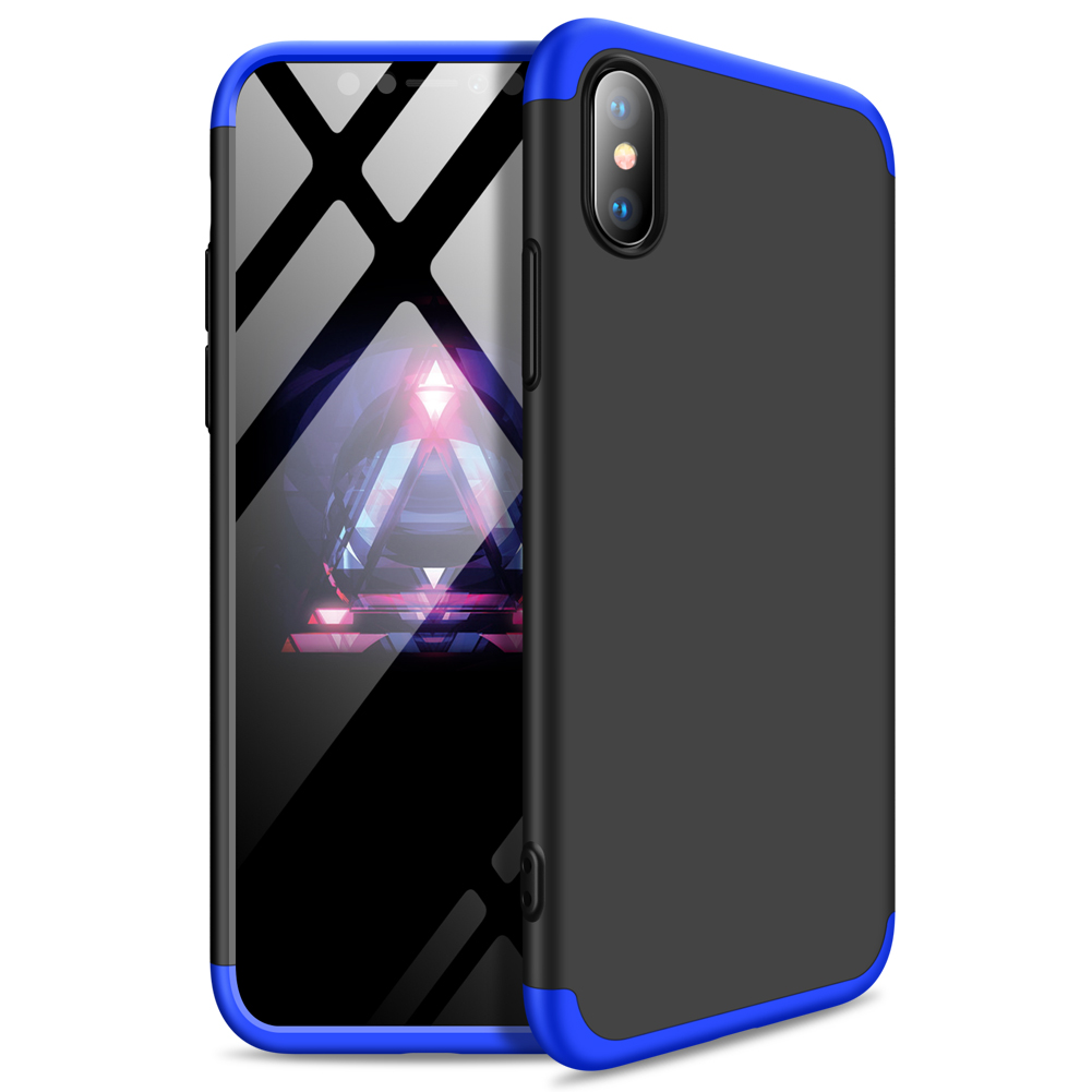 For Redmi 7A Ultra Slim PC Back Cover Non-slip Shockproof 360 Degree Full Protective Case Blue black blue