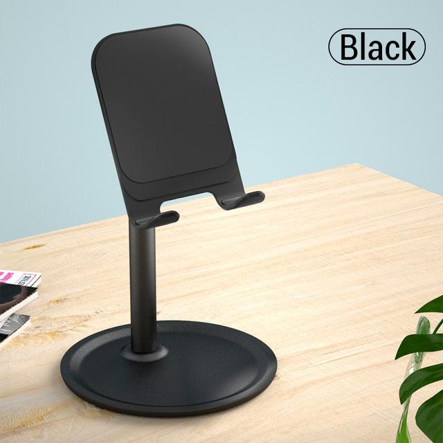 Mobile Phone Holder Stand Cell Phone Tablet Universal Desk Holder for iPhone X 8 7 Samsung Desktop Phone Holder Accessories black