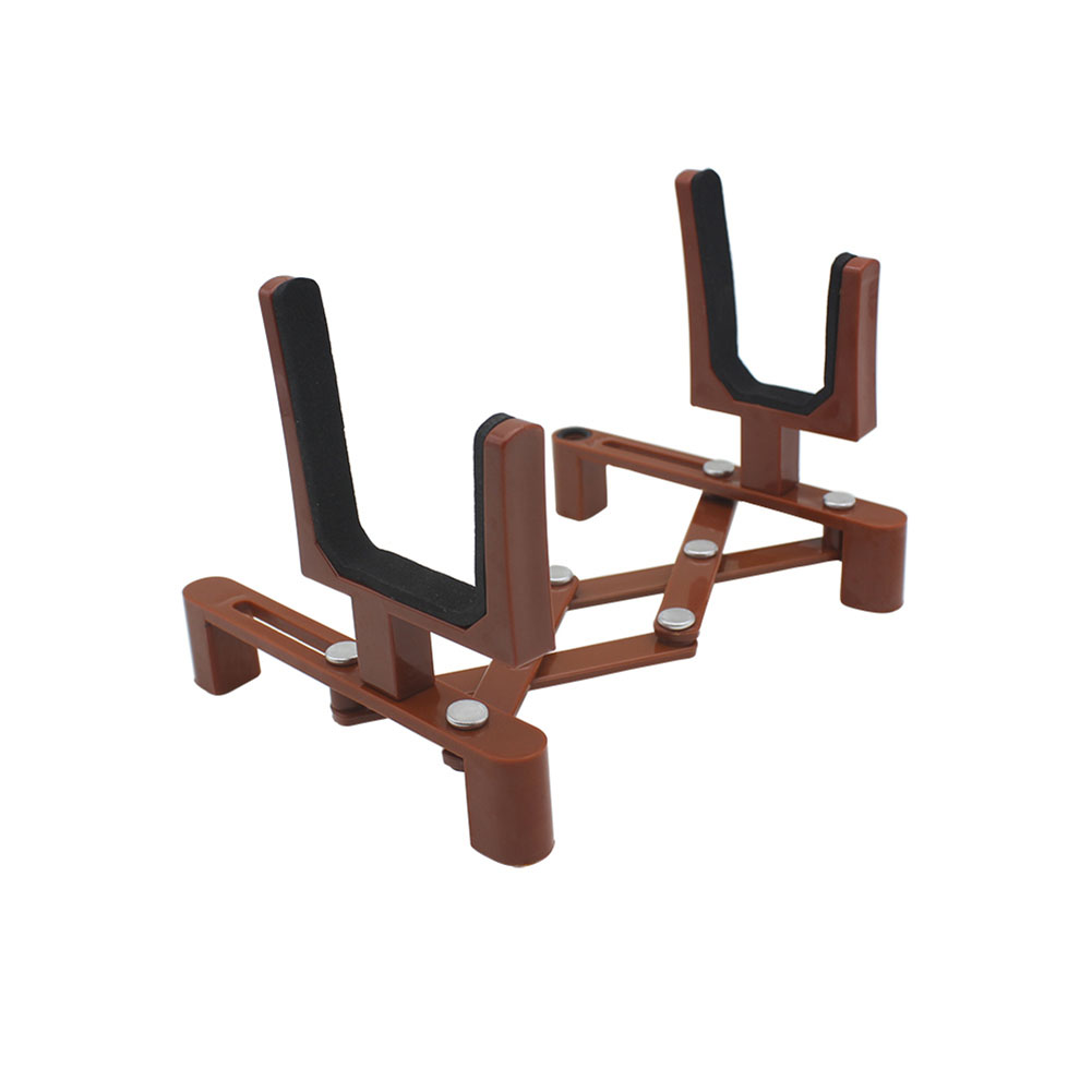 Portable Adjustable Foldable Musical Instrument Stand with Bow Holder for Violin Stand  brown