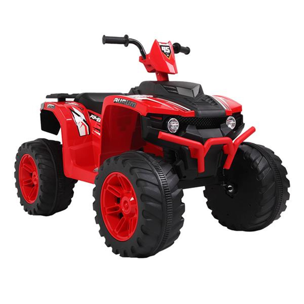 [US Direct] Original LEADZM Electric  Car Lz-9955 12v7ah Atv Toy With Led Headlight Dual-drive Battery Slow Start Black&red