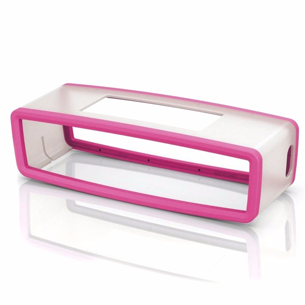 Portable Silicone Case for Bose SoundLink Mini 1 2 Sound Link I II Bluetooth Speaker Protector Cover Skin Box Speakers Pouch Bag rose Red