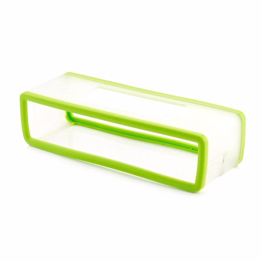 Portable Silicone Case for Bose SoundLink Mini 1 2 Sound Link I II Bluetooth Speaker Protector Cover Skin Box Speakers Pouch Bag Fluorescent green