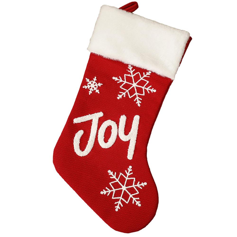 Christmas  Plush  Socks Non-woven Christmas Party Pendants Christmas Gift Candy Bags Snowflake English socks Joy