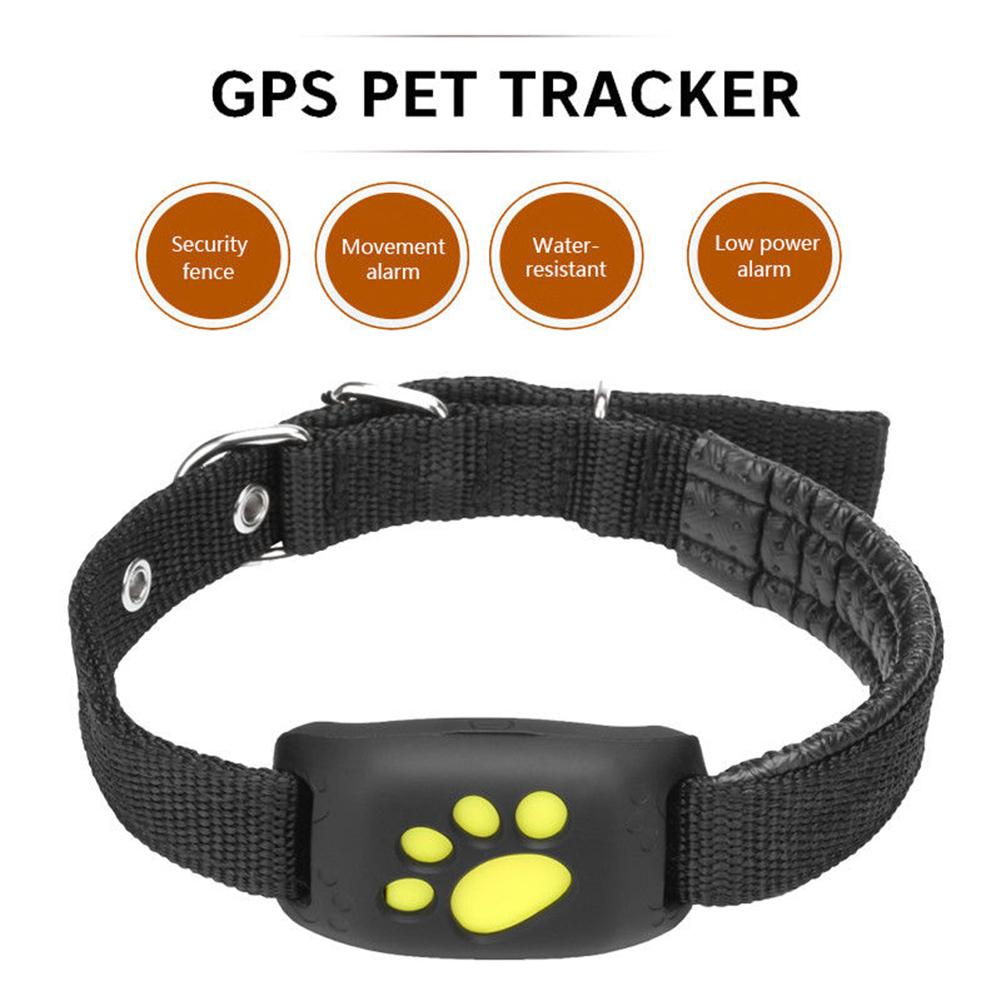 Cute Lightweight GPS Dog Cat Pet Realtime Tracker GSM/GPRS Finder Locator Alarm Waterproof Collar black