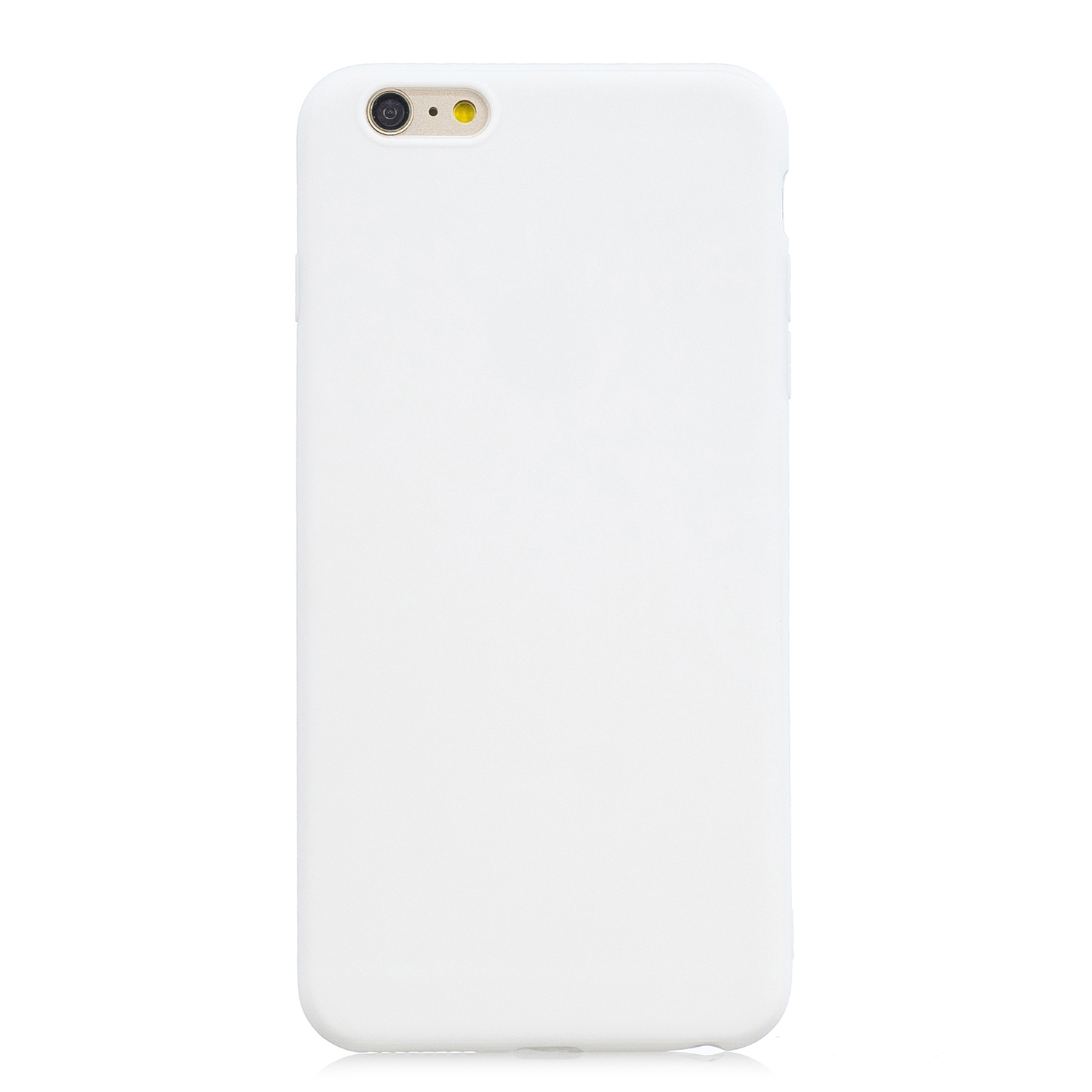for iPhone 6/6S Lovely Candy Color Matte TPU Anti-scratch Non-slip Protective Cover Back Case white