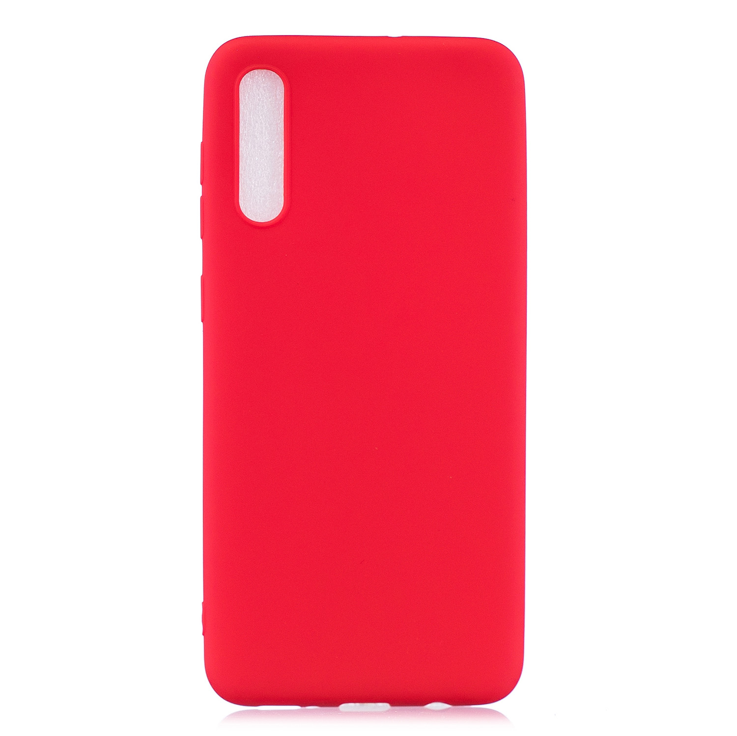 For Samsung A50 Lovely Candy Color Matte TPU Anti-scratch Non-slip Protective Cover Back Case red